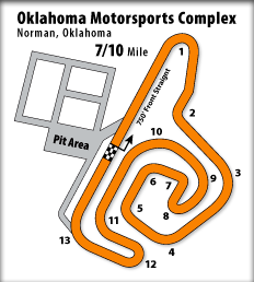 Oklahoma Motorsports Complex Kart Racing Track Map - Norman, OK